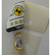 Transparent sticker for internal paste